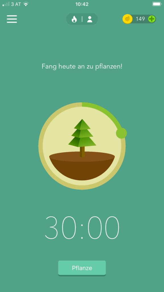 Mit der Forest App endlich mit dem Schreiben beginnen